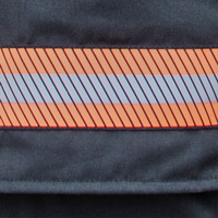 High Visibility Triple Trim - Red/Orange with Silver Stripe (Reflective Triple Trim)